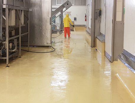 Pavimenti per l'industria alimentare in resina