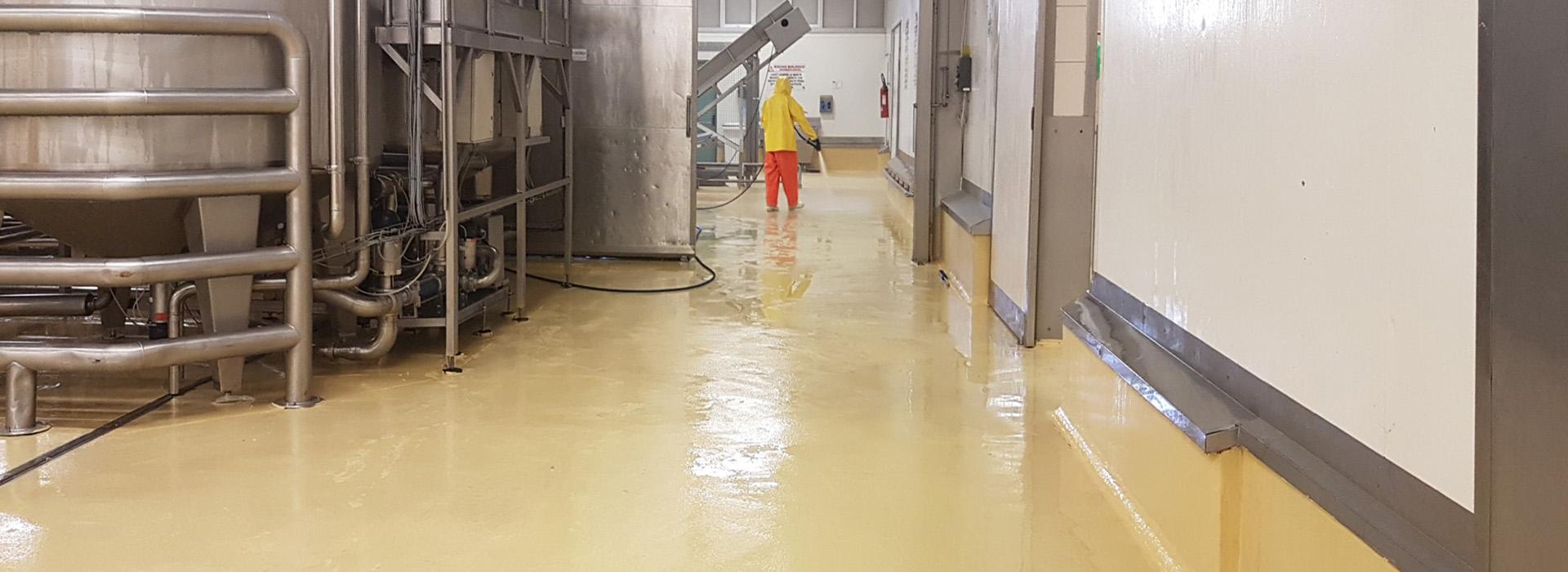 Cemento levigato nelle pavimentazioni con alta resistenza all'abrasione